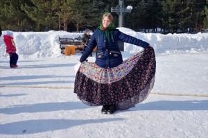 Масленица на Соборной площади в Лесосибирске